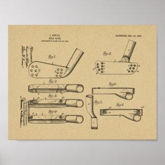 1907 Golf Club Head Patent Art Drawing Print