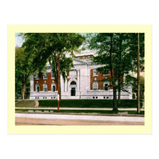 1907 Library, Utica, New York Vintage Postcard