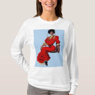 1907 pretty lady on a swing shirt