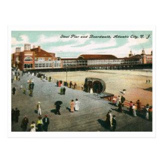 1907 Steel Pier Boardwalk Atlantic City NJ Vin Postcard