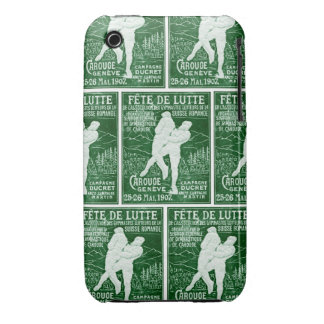 1907 Swiss Wrestling iPhone 3 Case