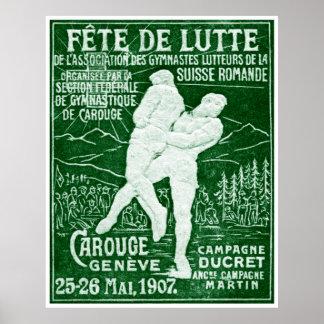 1907 Swiss Wrestling Poster