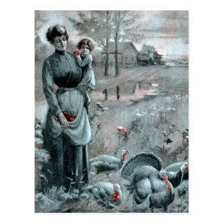 1907 TURKEY FARM THANKSGIVING POSTCARD