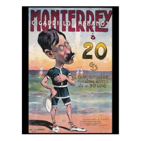 1907 Vintage Monetrrey Cigar Advertisement Postcard