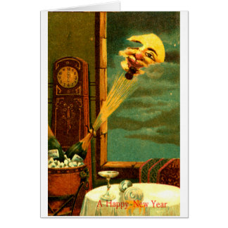 1908 Champagne New Year Card