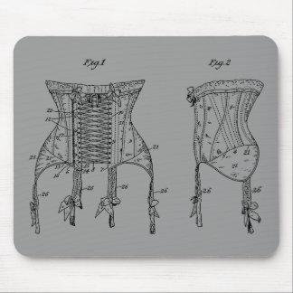 1908 Corset Illustration Mouse Pad