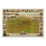 1908  Denver CO Birds Eye View Panoramic Map Posters