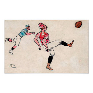 1908 French Rugby Print