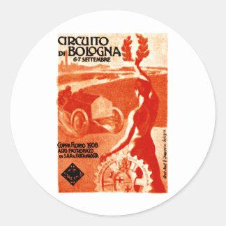 1908 Italian Auto Racing Classic Round Sticker