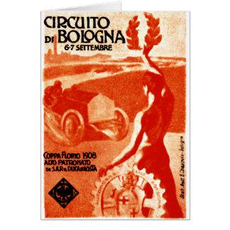 1908 Italian Auto Racing Greeting Card