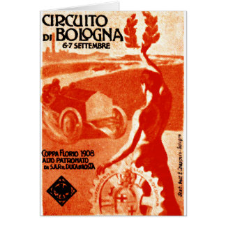 1908 Italian Auto Racing Stationery Note Card