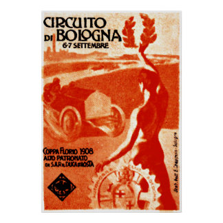 1908 Italian Car Race Poster
