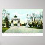 1908 parque de la perspectiva del vintage, Brookly Poster