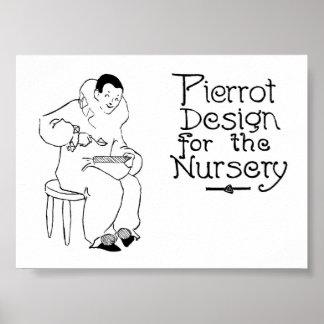 1908 Pierrot Vintage Design for Nursery Mug Print