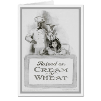 "1908!!! ""RAISED ON CREAM OF WHEAT"" AD GREETING CARD"