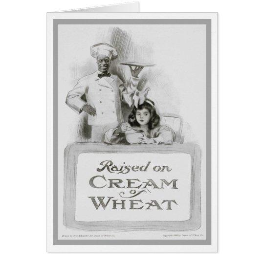 "1908!!! ""RAISED ON CREAM OF WHEAT"" AD GREETING CARD"