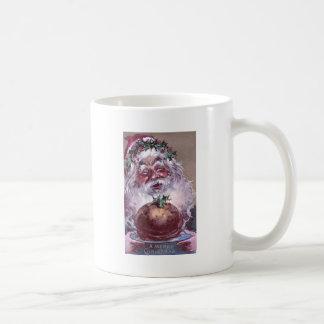 1908 Santa with Plum Pudding Vintage Christmas Coffee Mug