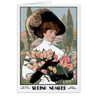 """1908! SPRING NUMBER"""" COVERART GREETING CARD"""