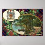 1908 Vintage MacDonald Scotland Crest Posters
