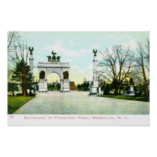 1908 Vintage Prospect Park, Brooklyn, NY Poster