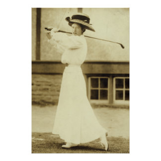 1908 Womens GOLF Champion Katharine Harley Print