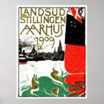 1909 Aarhus Denmark Exposition Poster