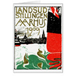 1909 Aarhus Denmark Exposition Poster Greeting Card
