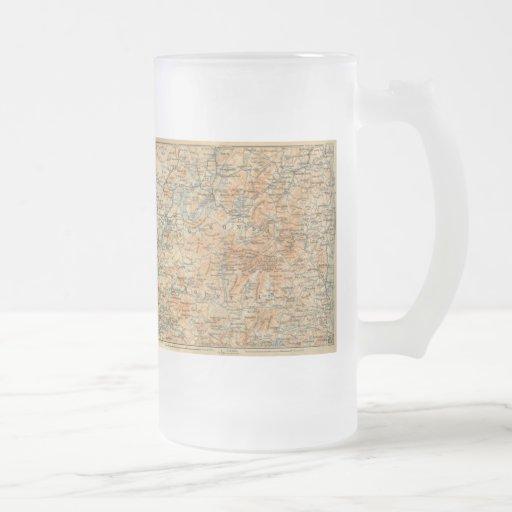 1909 Adirondacks Map from Baedeker's Travel Guide Mugs