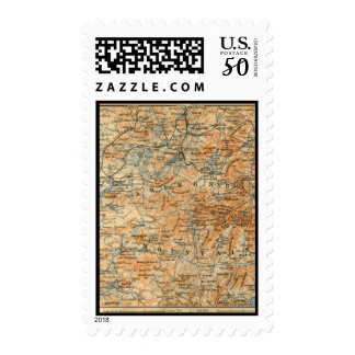 1909 Adirondacks Map from Baedeker's Travel Guide Postage
