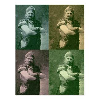 1909 caras de individuo francés loco de la ópera tarjeta postal