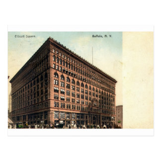 1909 cuadrado de Ellicott del vintage, búfalo, NY Postal