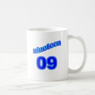 1909 diecinueve 09 taza de café