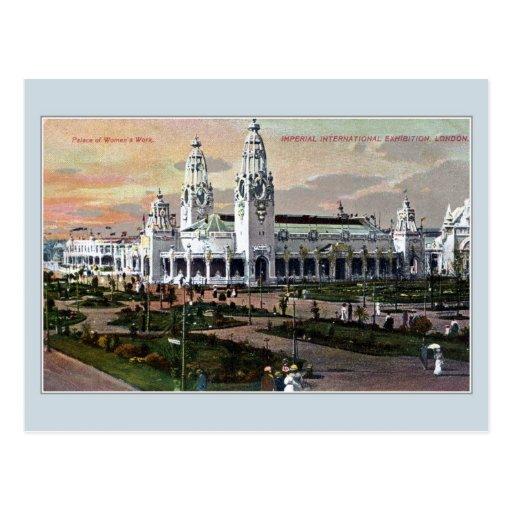 D Exhibition London : Imperial international exhibition london postcard
