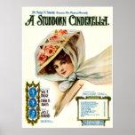 1909 Musical Comedy Stubborn Cinderella Poster