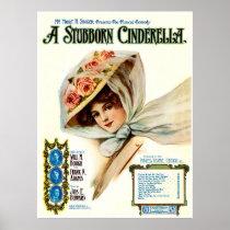 1909 Musical Comedy Stubborn Cinderella