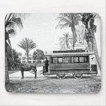 1909 Palm Beach Florida Trolley Mousepad