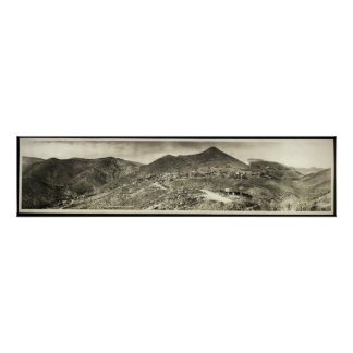 1909 Panoramic View, Jerome, AZ Yard Long Photo Poster