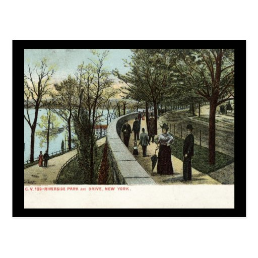 1909 Riverside Park and Drive, New York City Postcard