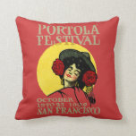 1909 San Francisco Portola Festival Pillow