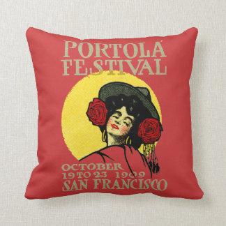 1909 San Francisco Portola Festival Throw Pillow