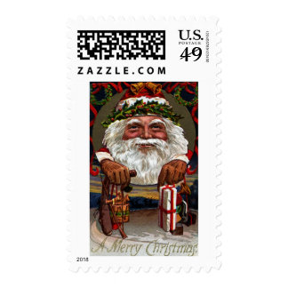 1909 Santa Claus Dangling Gifts Postage