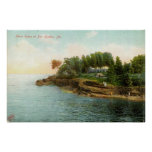 1909 Shore Scene at Bar Harbor, Maine Posters