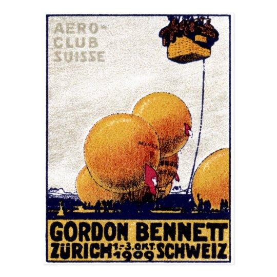 1909 Swiss Aviation Club Poster Postcard