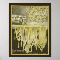 1909 Vintage Sheet Music Cover Copy HONEY RAG
