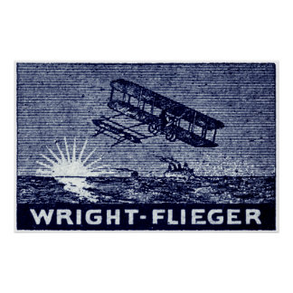 1909 Wright Brothers Aircraft Poster