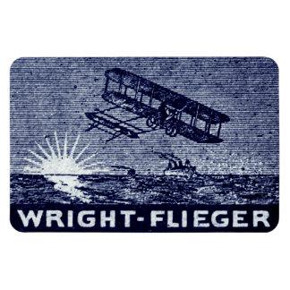 1909 Wright Brothers Aircraft Rectangular Photo Magnet
