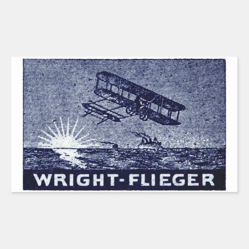 1909 Wright Brothers Aircraft Rectangular Sticker