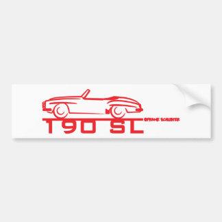 190SL Red Car Bumper Sticker