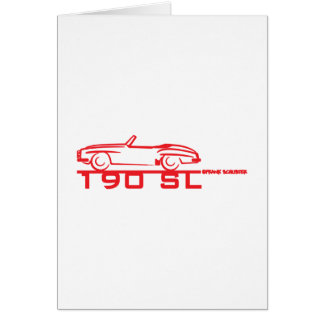 190SL Red Greeting Cards