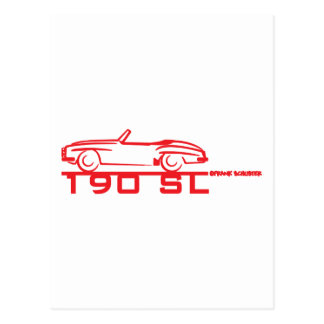 190SL Red Postcard